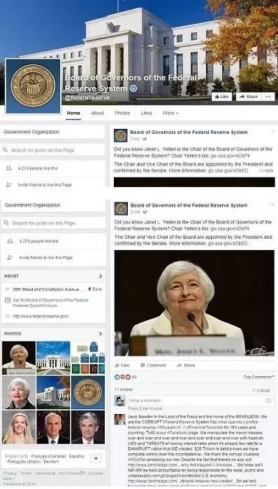美联储首开Facebook账户 投资者蜂拥而至!-律格资本官网-律格研究